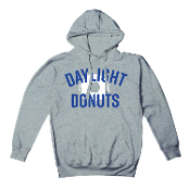 """Daylight Donuts"" Gray Hooded Sweatshirt"