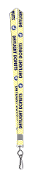 Yellow Stripe Lanyard